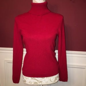 ANN TAYLOR CASHMERE SWEATER / Sz S / Red